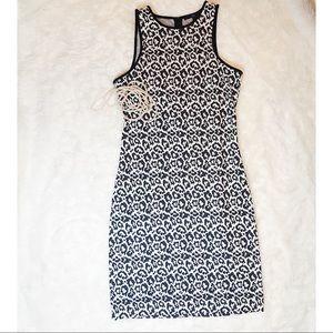 Tibi White Leopard Knit Cut In Dress size 6